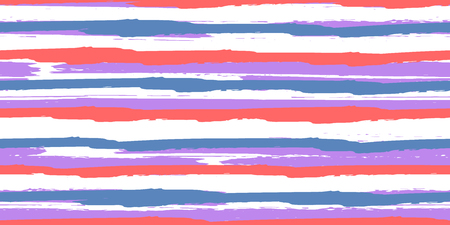 Seamless Background of Stripes. Watercolor Striped Fashion Print Design.  Fashionable Hand Lines. Grunge Texture.  Suitable for Textile Printing, Packaging.