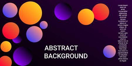 Balls shapes. Modern design of coverages. Vector geometric illustration. Halftone, 3d. Abstract background of violet, orange, red balls shapes.