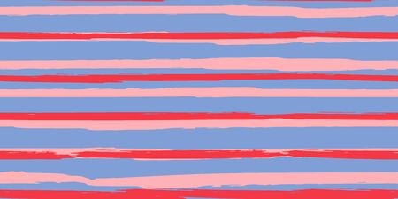 Seamless Background of Stripes. Watercolor Striped Fashion Print Design. Hand Drawn Lines in Watercolor Style. Grunge Texture.  Suitable for Textile Printing, Packaging. 일러스트