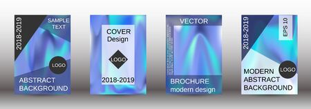 Flowing backgrounds as a modern template for design. Creative fluid backgrounds from current forms for the design of fashionable abstract covers, banners, posters, booklets. Vector illustration.
