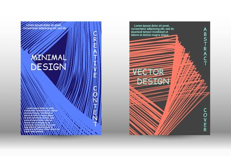Cover design.  A set of trendy covers. Wave lines.Striped background.  Trendy geometric patterns. EPS10 Vector Design.
