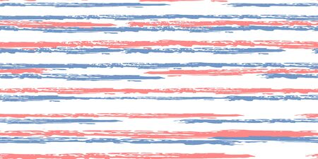 Seamless Background of Stripes. Watercolor Striped Fashion Print Design. Hand Drawn Lines in Watercolor Style. Grunge Stripes with Painted Brush Strokes.  Cloth, Textile Design, Linen, Fabric.