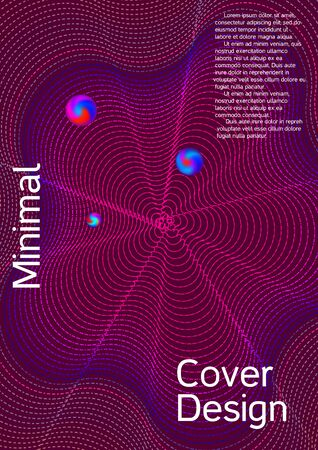 Minimum coverage of a vector. Cover design. Future template for the design of the background of albums, business brochures, banner, poster. Иллюстрация