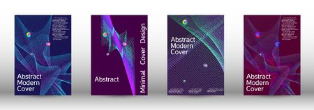 The minimal geometric coverage. Cover design. Set of modern abstract musical backgrounds. Sound flyer for creating a fashionable  cover, banner, poster, booklet. Иллюстрация