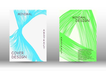Minimal vector coverage. Abstract cover with the effect of movement and distortion. Trendy geometric patterns. Vector Design. Ilustracja