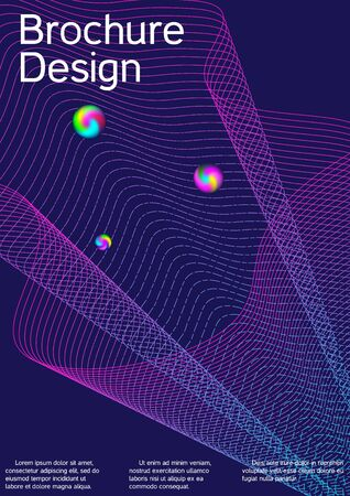 Minimum coverage of the vector. Cover design. Suitable for creating a fashionable abstract cover, banner, poster, booklet.