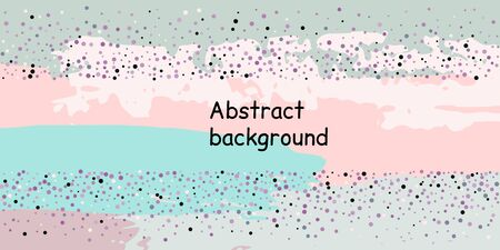 Multicolored confetti dots on a striped background. The concept of festive decoration. Fashionable color concept. Pattern from a striped background with chaotic confetti dots for design poster, banner