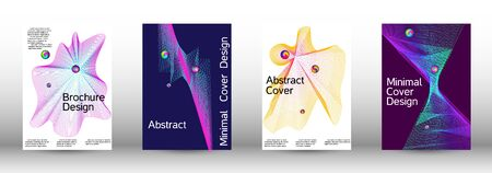 Minimum coverage of the vector. Cover design. A set of modern abstract covers. Minimal vector cover design with abstract lines.