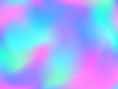 Abstract blurred gradient mesh background. Colorful smooth banner template.Trendy creative vector. Intense blank Holographic spectrum gradient for cover. Ilustracja