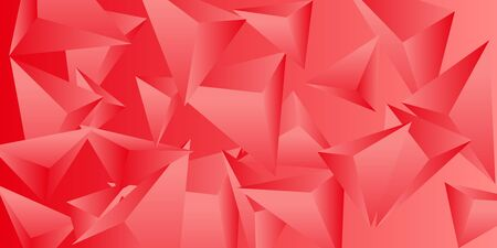Abstract composition of  triangle. 3D vector illustration . Futuristic geometric background.  Red  three-dimensional  geometric triangle in space. Illustration
