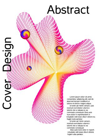 Minimum coverage of a vector. Cover design. Suitable for creating a fashionable abstract cover, banner, poster, booklet.