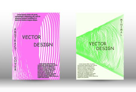 vector coverage. Abstract cover with  effect of movement  distortion. Trendy geometric patterns.  Vector Design. Иллюстрация
