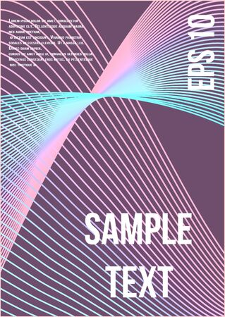 Minimal trendy vector with halftone gradients.  Minimalistic colorful cover. Geometric future template for flyer, poster, brochure and invitation.