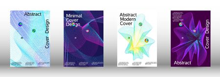 Minimum coverage of a vector. Cover design. Set of modern abstract musical backgrounds. Sound flyer for creating a fashionable  cover, banner, poster, booklet. Иллюстрация