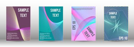 Minimum vector coverage. Abstract cover. Positive design template. Creative backgrounds with abstract gradient linear waves to create a fashionable  banner, poster.