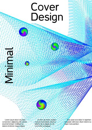 The minimal geometric coverage. Cover design. Vector sound flyer for creating a fashionable abstract cover, banner, poster, booklet. Фото со стока - 129790630
