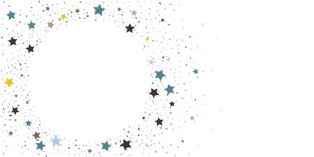Abstract flying confetti. Falling confetti background. Random glitter shine on a white background. Suitable for your design, cards, invitations, gifts.