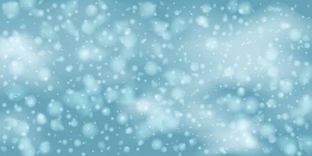 Winter  sky falling on light background. Falling Christmas Shining white transparent beautiful snow. Winter xmas decoration illustration. Snowflakes, snowfall. Çizim