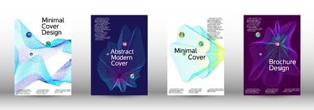 Minimum coverage of the vector. Cover design. Set of modern abstract musical backgrounds. Sound flyer for creating a fashionable  cover, banner, poster, booklet.