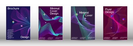 The minimal geometric coverage. Cover design. A set of modern abstract covers. Minimal vector cover design with abstract lines. Illusztráció