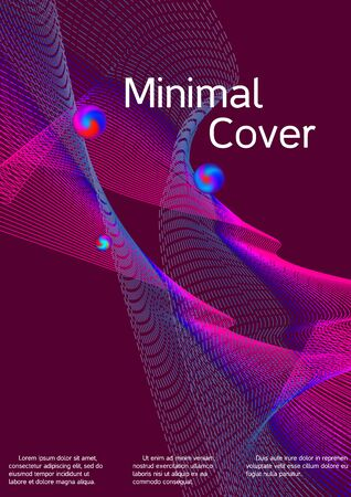 The minimal geometric coverage. Cover design. Suitable for creating a fashionable abstract cover, banner, poster, booklet.