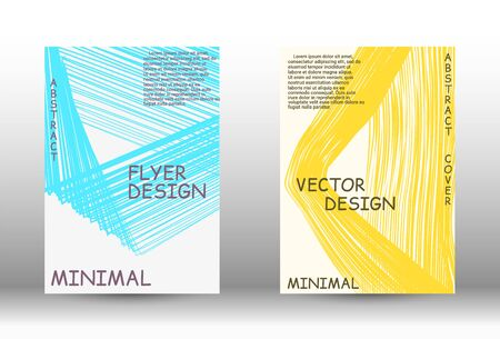Minimal vector coverage. Abstract cover with the effect of movement and distortion. Trendy geometric patterns. EPS10 Vector Design.