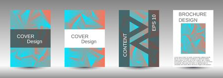 Modern design template. A set of modern abstract covers. Creative blue triangle element vector. Geometric booklet cover template design. Stock Illustratie