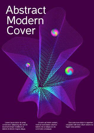 Cobertura mínima del vector. Diseño de portada. Folleto de sonido vectorial para crear una portada abstracta de moda, pancarta, póster, folleto.