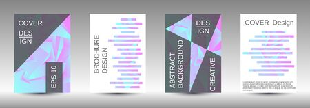 Minimum vector coverage. A set of modern abstract covers. Creative blue triangle element vector. Geometric booklet cover template design. Ilustração