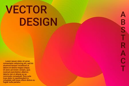 Modern abstract illustration with colorful 3d abstract wave background for banner design. Graphic abstract background. Design modern vector business concept. Cartoon vector illustration.