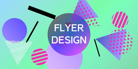 Geometric green abstract background with trendy isometric shapes. Minimal universal banner templates in memphis style. Minimalistic green background design with dynamic shapes. Vector illustration.