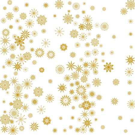 Falling snowflakes. Winter vector background. The effect of decorating snowflakes. Winter vacation. Vettoriali
