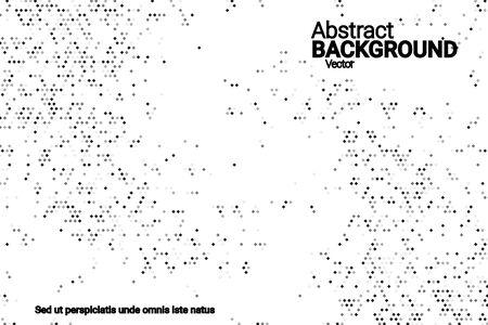 Black grunge halftone vector background in retro style on a white halftone background. Vector pattern abstract geometric art background. Иллюстрация