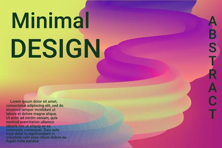 Modern abstract illustration with colorful 3d abstract wave background for banner design. Gradient abstract background vector.  Design modern vector business concept. Business presentation.