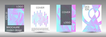 Minimum vector coverage. A set of modern abstract covers. Creative blue triangle element vector. Geometric booklet cover template design. Иллюстрация