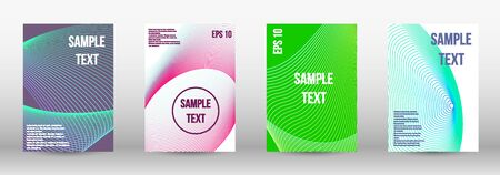 Modern design template. A set of trendy covers.  Geometric template with lines for booklet cover. Trendy geometric patterns. Vector Design. Иллюстрация