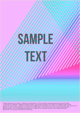 Minimal trendy vector with halftone gradients.  Minimalistic colorful cover. The future template for decorating the background of albums, business brochures, banner, poster.