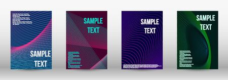 Modern design template. A set of modern abstract oblong objects from vector abstract lines. Geometric template with lines for booklet cover. Trendy geometric patterns. EPS10 Vector Design.
