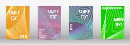 Modern design template. A set of trendy covers.  Geometric template with lines for booklet cover. Trendy geometric patterns.  Vector Design.