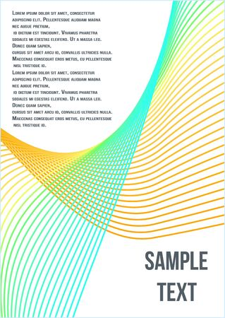Modern abstract background. Modern abstract cover from vector abstract lines.  Geometric future template for flyer, poster, brochure and invitation. Banque d'images - 134873708