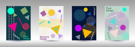 Modern design template. Modern Memphis background. Artistic geometric cover design. Fashionable  cover, banner, poster, booklet. Creative colors backgrounds. Vector.