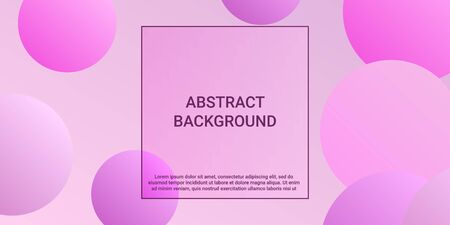 Gradients of balls shapes. Modern design of coverages. Vector geometric illustration. Halftone, 3d. Abstract background of purple, pink gradients beads shapes. Ilustração