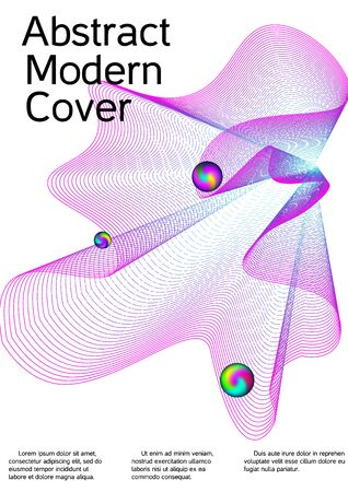 Minimum coverage of a vector. Cover design. Future template for the design of the background of albums, business brochures, banner, poster. Ilustracja