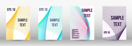 Modern design template. A set of trendy covers.  Geometric template with lines for booklet cover. Trendy geometric patterns.  Vector Design. Banque d'images - 134873600