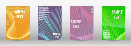 Modern abstract background. A set of modern abstract oblong objects from vector abstract lines. Geometric template with lines for booklet cover. Trendy geometric patterns. EPS10 Vector Design. Banque d'images - 134855927