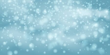 Winter vector background. Falling Shining white transparent beautiful snow. Happy new year decoration. Snowflakes, snowfall. Standard-Bild - 134855766