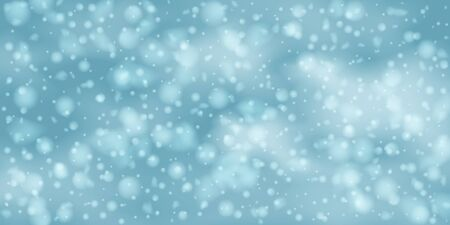 Winter background with sky, heavy snowfall. Falling Shining white transparent beautiful snow. Winter decoration element. Snowflakes, snowfall. Standard-Bild - 134855970