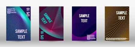 Modern design template. A set of trendy covers.  Geometric template with lines for booklet cover. Trendy geometric patterns.  Vector Design. Banque d'images - 134873894