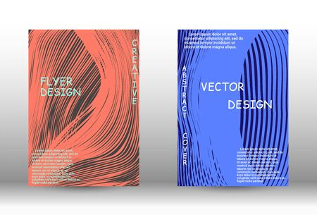 Minimal vector coverage. Abstract cover with the effect of movement and distortion. Trendy geometric patterns.  Vector Design.