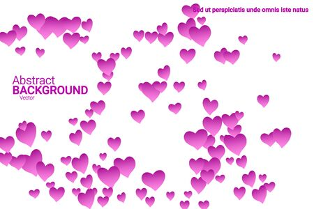 Festive decoration in the form of hearts confetti on the background. Valentine's gift. Banner, poster template. Love vector pattern. Colorful vector background for valentines day. Foto de archivo - 134873908